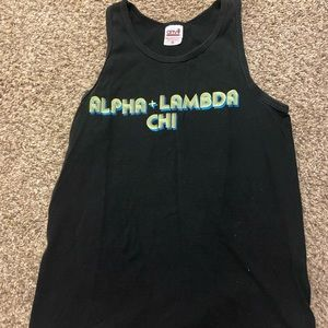 Alpha Lambda Chi Black Tank Top